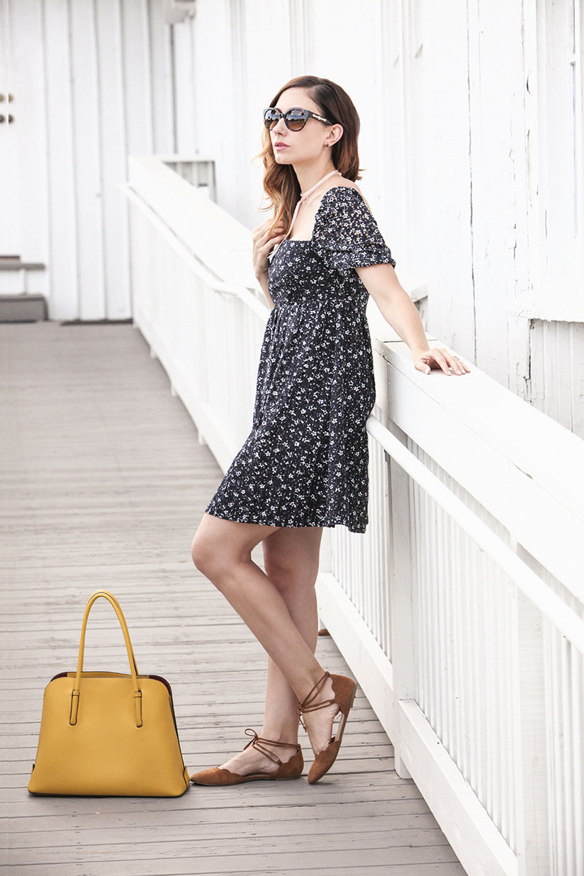 Lace eyelet dress from Anthropologie