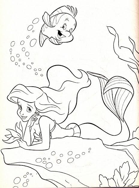 Ariel Flounder Coloring Pages Images Regarding Ariel And Flounder Coloring  Pages