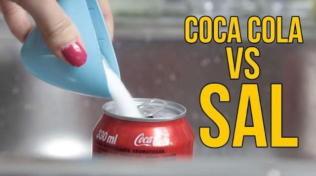 mezcla, coca cola, sal