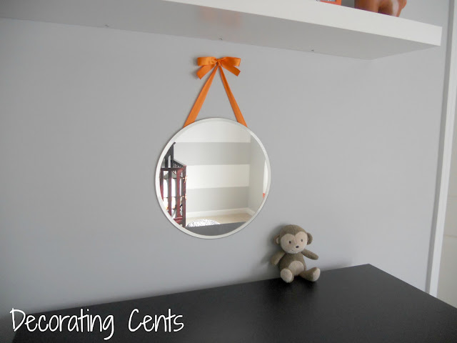 Decorating Cents Hanging A Mirror With Ribbon