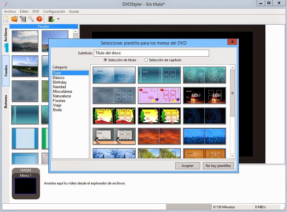Crear un DVD de tus videos con menús interactivos