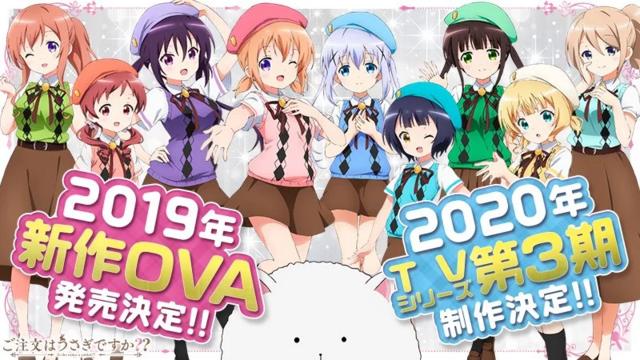 Gochuumon wa Usagi Desu ka? tendrá tercera temporadas y varias OVAS