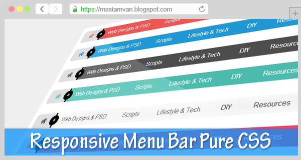 menu bar tanpa edit html