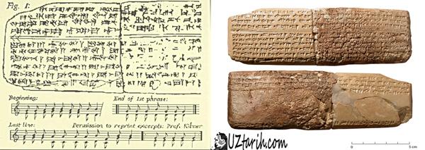 en eski nota, hurrian, ugarit
