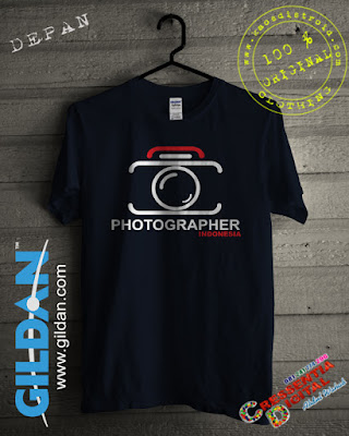 Kaos Gildan Photographer Indonesia Warna Biru Dongker