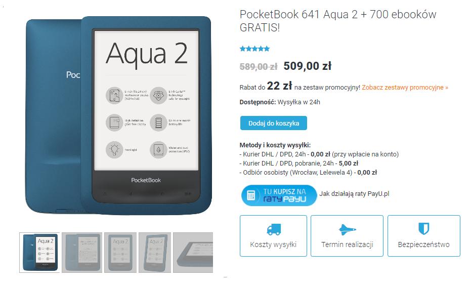 PocketBook Aqua 2 na czytio.pl