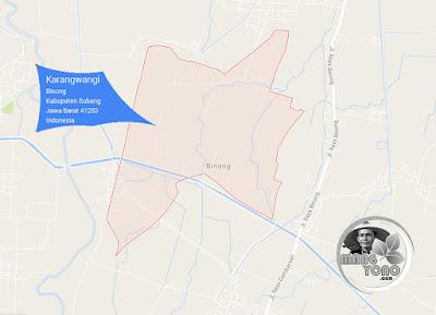 PETA Desa Karangwangi, Kecamatan Binong