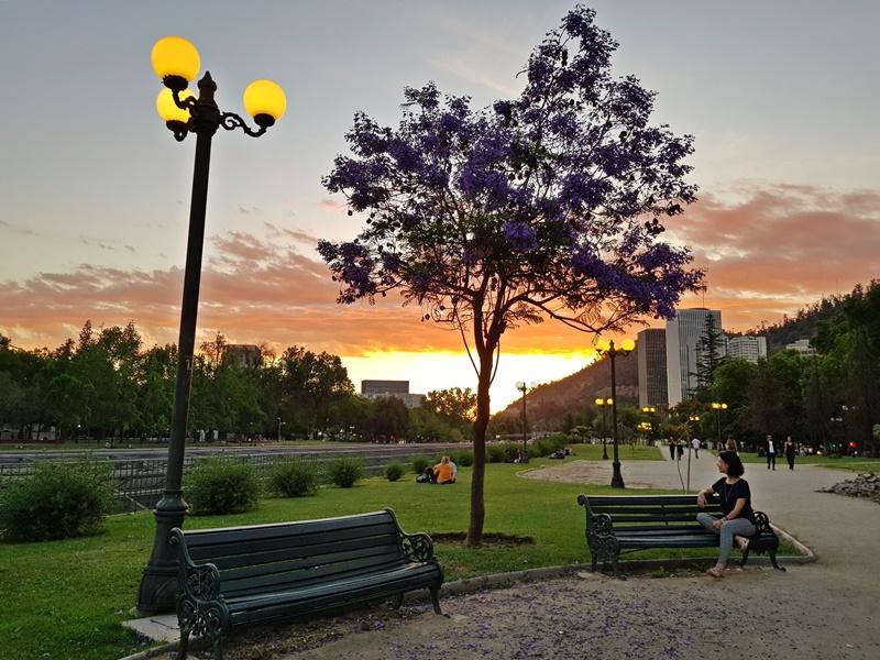 Providência, pôr do sol em Santiago