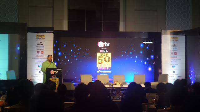Top 50 Awards - Chief Guest, Mr. Mahesh Giri Addressing the audience