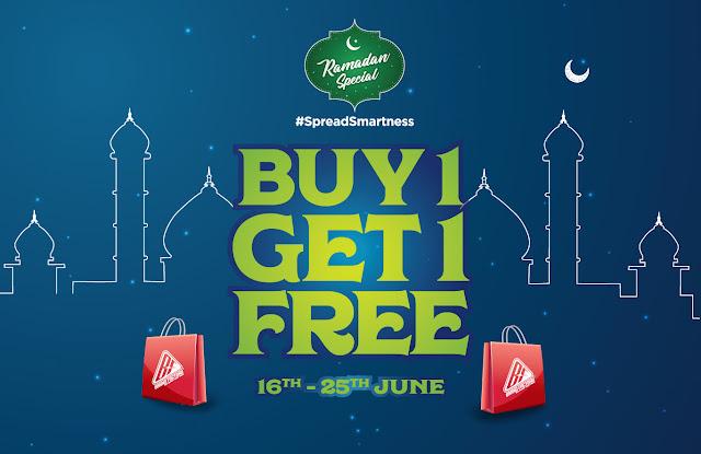 BrandFactory Ramadan offers - Buy one get one | June 2017 discounts and benefits
