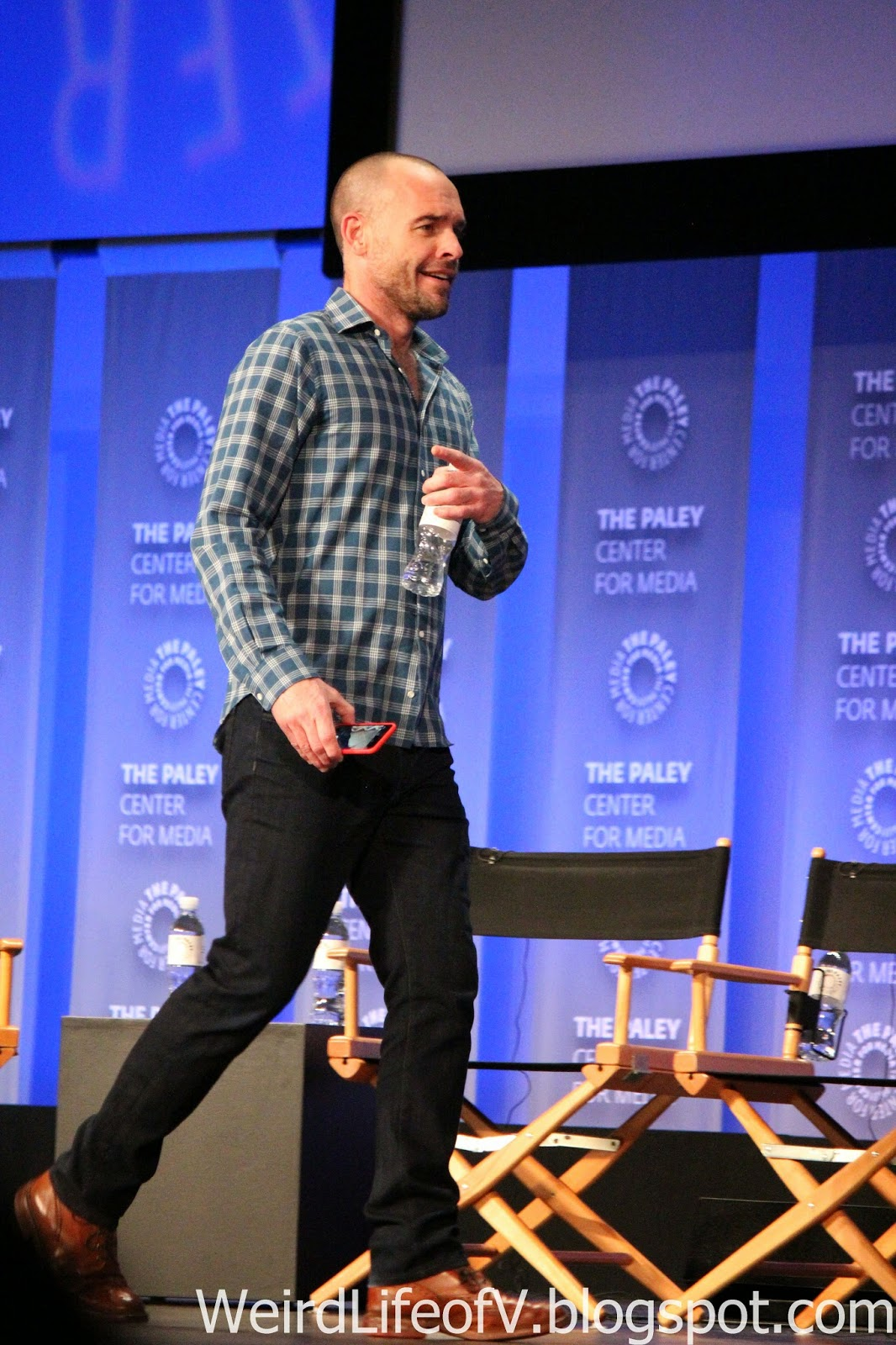Paul Blackthorne walking on stage