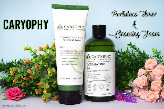 CARYOPHY Portulaca Toner & Portulaca Cleansing Foam review