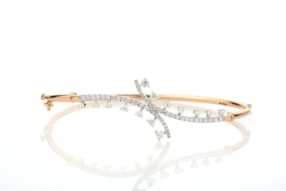 Entice Alina Collection_ All diamond bracelet in rose gold