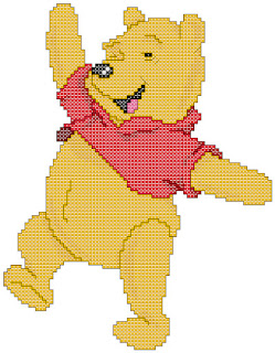 Winnie the Pooh, cross-stitch, back stitch, x-stitch, stitch, free cross-stitch scheme, cartoon, Disney, вышивка крестиком, бесплатная схема, хрестик, punto croce, schemi punto croce gratis