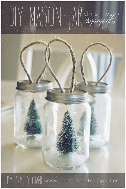 Mason Jar Ornaments from Simply Ciani