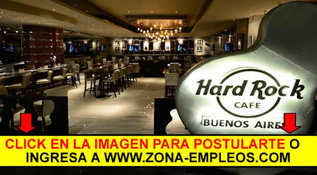 BACHERO/A PARA HARD ROCK CAFÉ - NO SE REQUIERE EXPERIENCIA