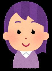 紫の髪の女の子のイラスト