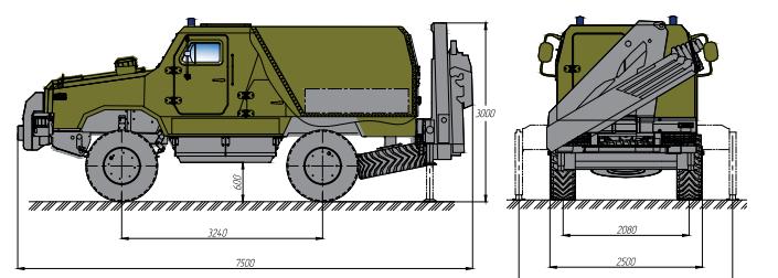 бронеавтомобіль Козак-2 розмінування