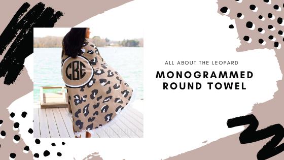 monogrammed round towel