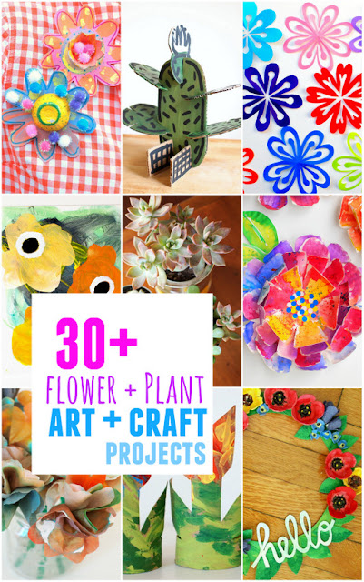 30+ flower and plant art + craft projects:  gorgeous, creative, and affordable kids craft ideas!