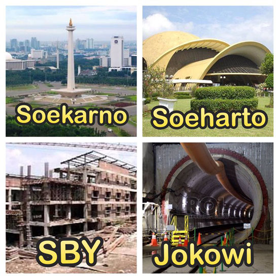 Foto Bangunan Peninggalan Presiden RI Soekarno, Soeharto, SBY dan Jokowi Versi Netizen