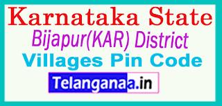 Bijapur(KAR) District Pin Codes in Karnataka State