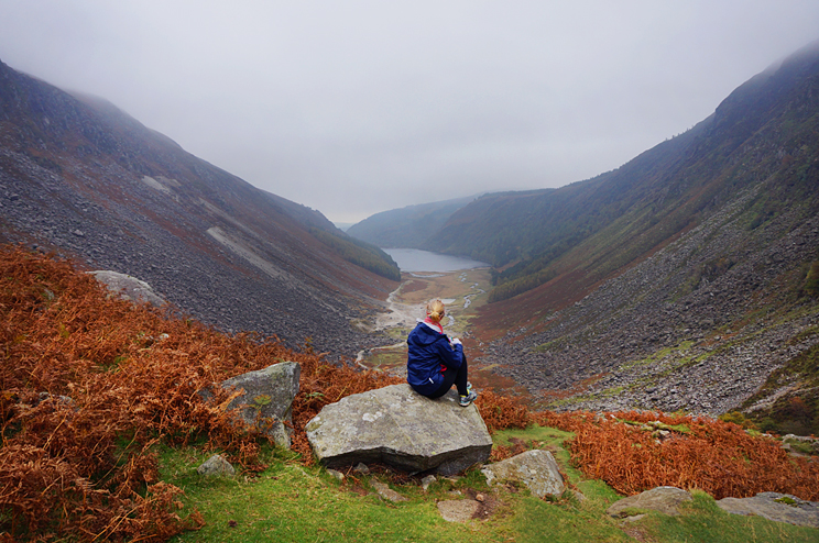 View of the Glendalough valley