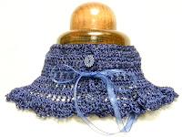 Otra vista cuello viscosa en azul