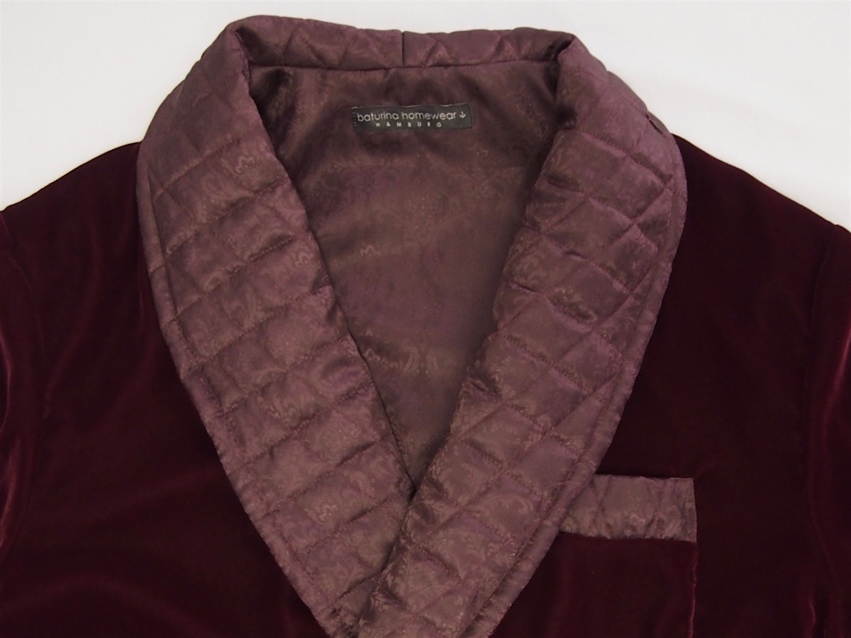 e1c561a268 Mens burgundy red velvet dressing gown with quilted silk shawl collar  classic luxury housecoat tailored.