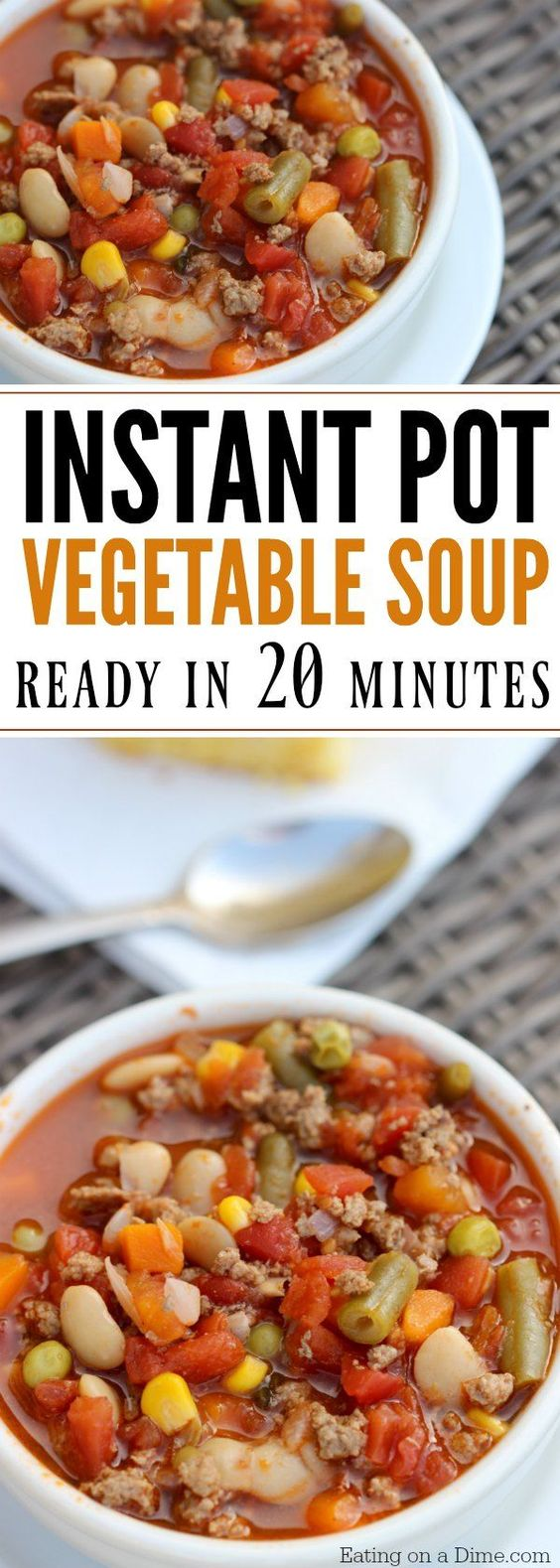 INSTANT POT BEEF VEGETABLE SOUP RECIPE