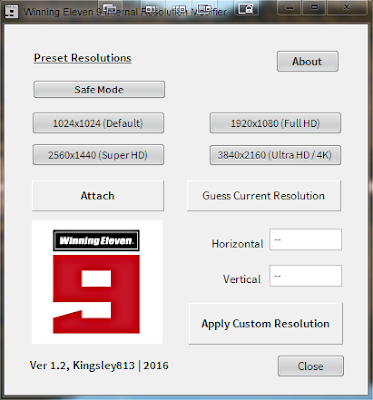 PES 5 /  WE 9 / WE 9 LE Internal Resolution Modifier Tool by Kingsley813