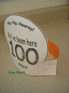 100th day hat template - modal title
