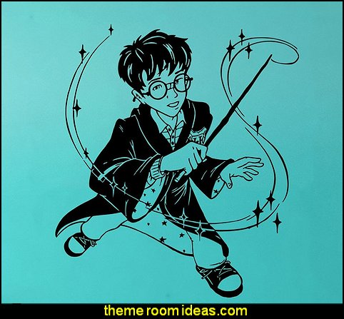 Harry Potter Wall Decal Harry Potter Vinyl Sticker Cartoon Decals Home Decor
