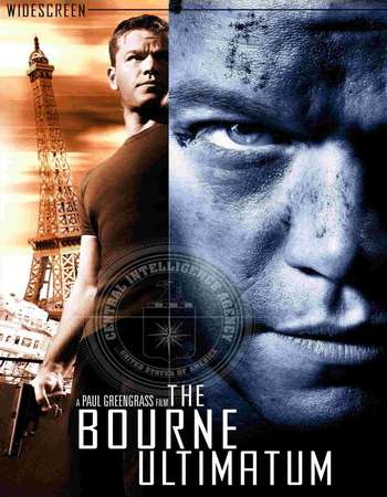 Poster Of The Bourne Ultimatum 2007 Hindi Dual Audio 550MB BRRip 720p ESubs HEVC Free Download Watch Online downloadhub.net