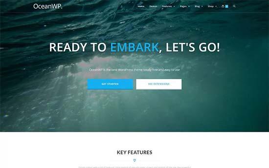 OceanWP free wordpress theme