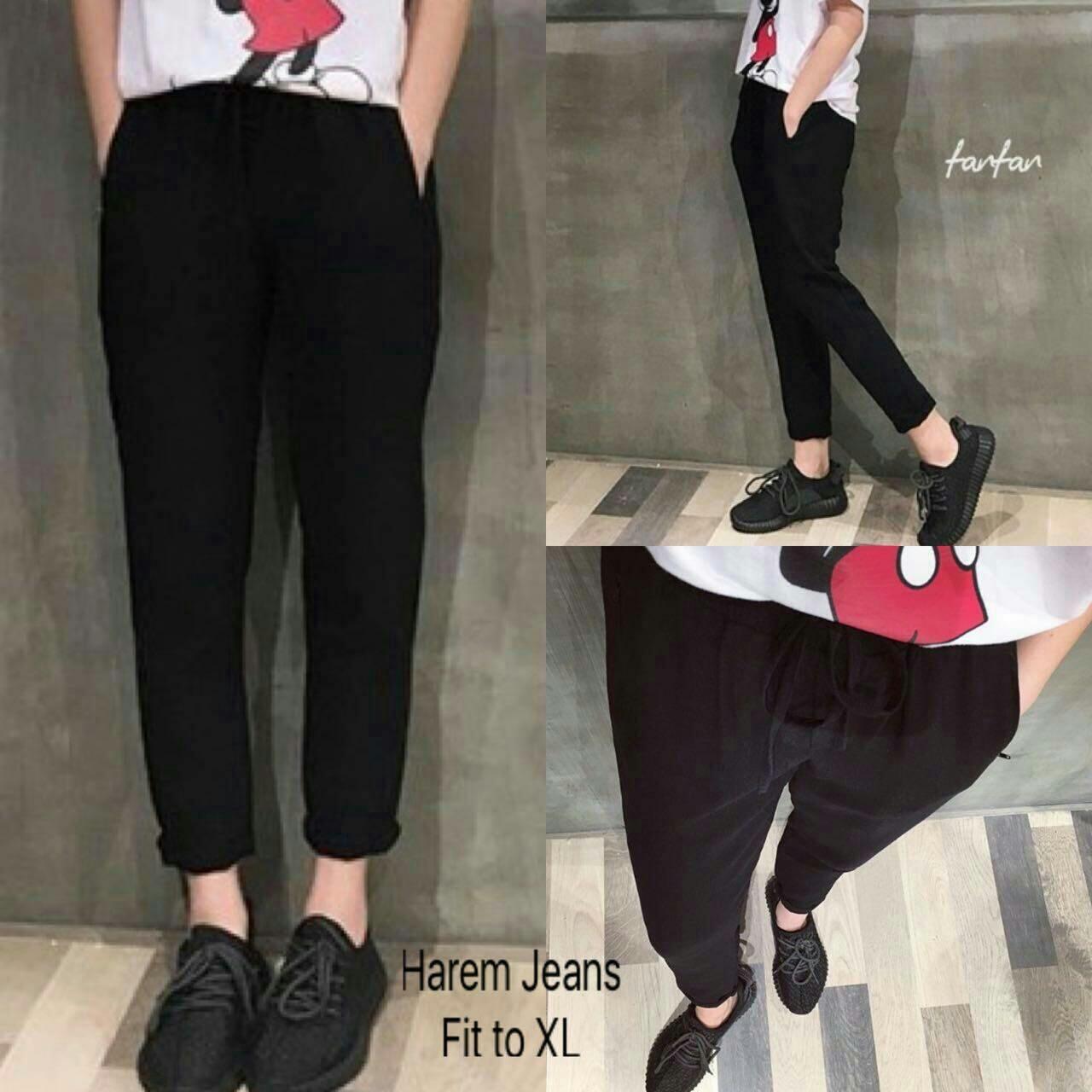 Jual Celana Panjang Celana Harem Black Jeans - 12885