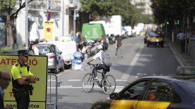 espacio público, Barcelona, día sin coches