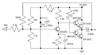 14W CLASS A AMPLIFIER USING 2N3055 ELECTRONIC DIAGRAM