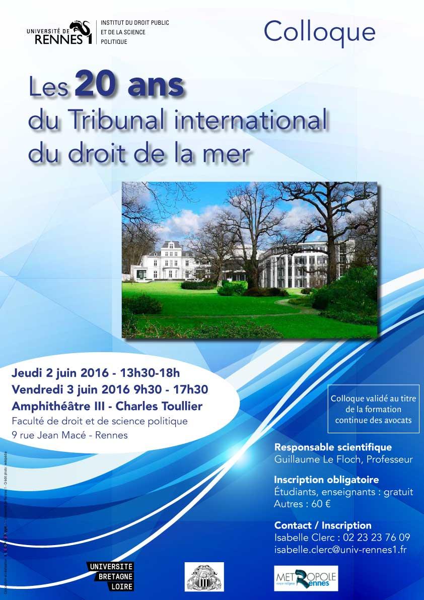 Rennes eval - On June 2 3 2016 The Institut Du Droit Public Et De La Science Politique At The Universit De Rennes 1 Will Host A Conference On Les 20 Ans Du Tribunal
