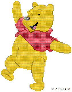 Free cross-stitch patterns, cross-stitch, back stitch, x-stitch, stitch, free cross-stitch scheme, cartoon, Winnie the Pooh, Disney, вышивка крестиком, бесплатная схема, хрестик, punto croce, schemi punto croce gratis