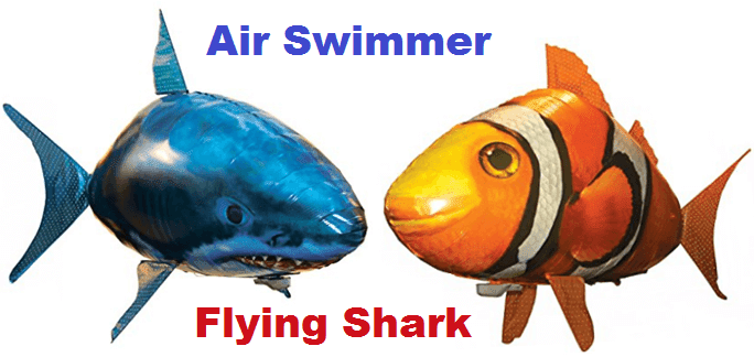 Remote controlled air swimmers flying shark igadgetware for Remote control flying fish