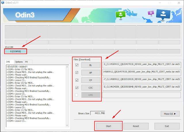 cara flash Samsung J7 Duo SM-J720F menggunakan odin