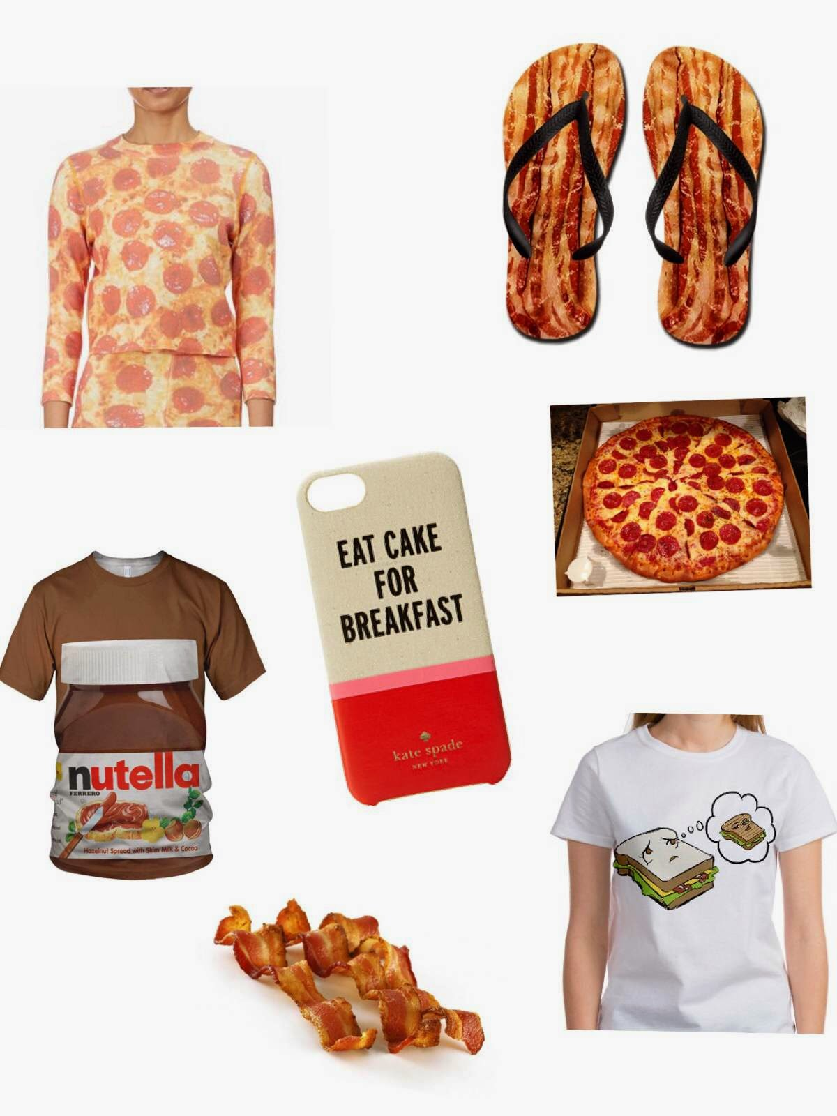 pizza print clothing