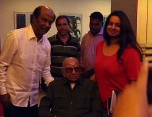 Rajini watched Kabali in Chennai with a Special Guest