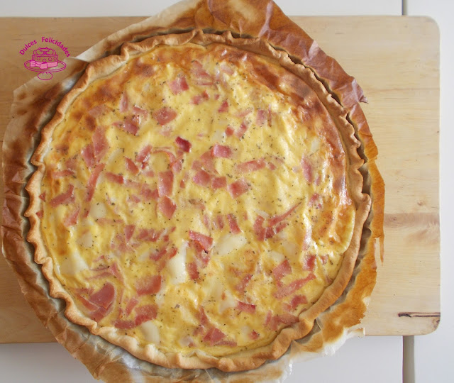 Quiche de York y queso
