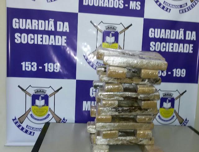 Guarda Municipal apreende menor com 31 quilos de droga na rodoviária de Dourados (MS)