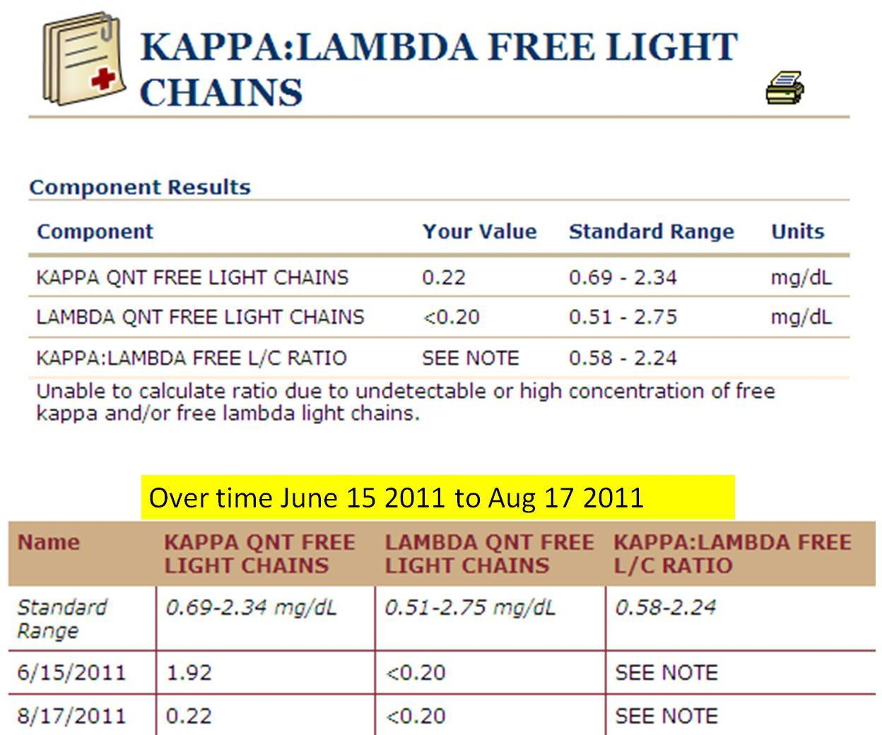 Kappa Free Light Chain