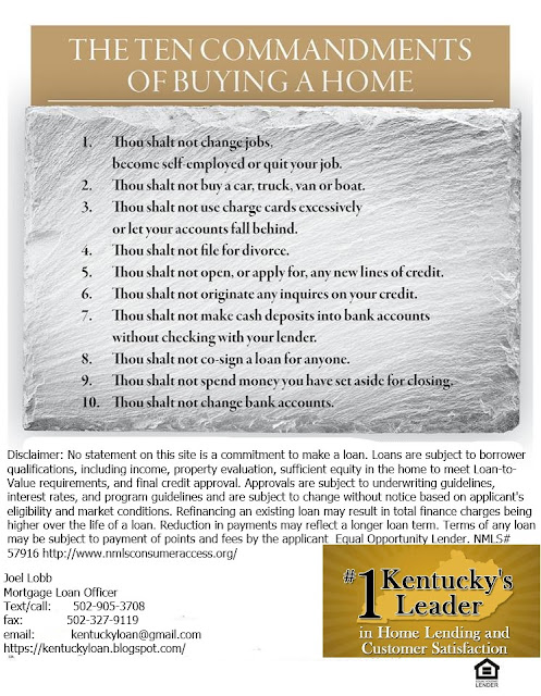 What NOT To Do When Applying For A Home Loan In Kentucky!