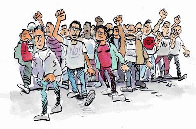 Resultado de imagen de dibujos de lucha obrera