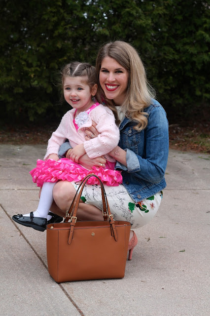 Spring Easter fashion, mommy daughter